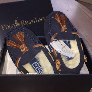 Polo Ralph Lauren Genuine Shearling Moccasin NWT